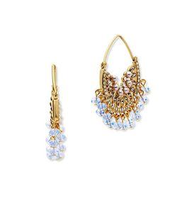 Jenny Packham | Half Moon Beaded Hoop Earrings