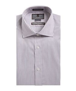 Black Brown | Non-Iron Slim Fit Striped Dress Shirt
