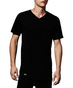 Lacoste   Essentials Cotton V-Neck Teepack Of 3