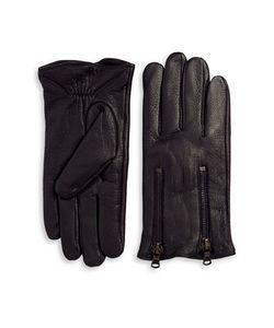 John Varvatos | Double Zip Leather Gloves