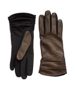 Lord & Taylor | Leather Ruched Gloves