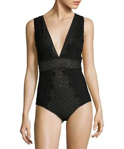 Free People | Dotted And Scalloped Lace Bodysuit