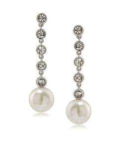 Lauren Ralph Lauren | Headlines Stone-Accented And Faux Pearl Linear Drop Earrings