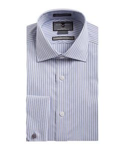 Black Brown | Non-Iron Slim-Fit Striped French Cuff Dress Shirt