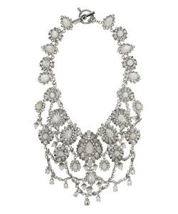 Marchesa | Rhodium Opal And 6mm-8mm Simulated Faux Pearlplated Drama Collar Necklace