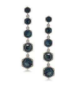 Lauren Ralph Lauren | Headlines Stone-Accented Hexagon Linear Drop Earrings