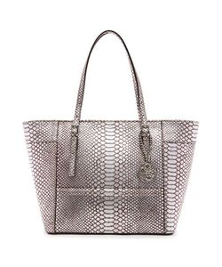 Guess | Delaney Small Python Embossed Tote