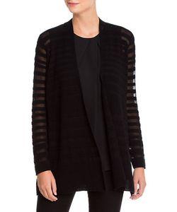 NIC+ZOE | Solid Striped Long Sleeve Cardigan