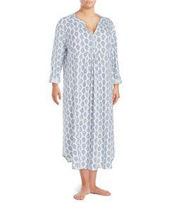 Carole Hochman   Plus Cotton Nightgown