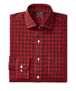 Lauren Ralph Lauren | Slim-Fit Plaid Stretch Estate Dress Shirt
