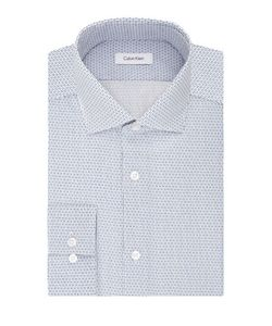 Calvin Klein | Printed Spread Collar Cotton Dress Shirt