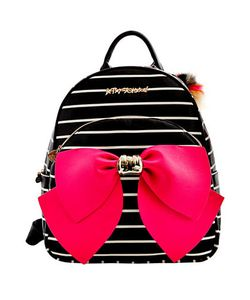 Betsey Johnson | Striped Bow Backpack