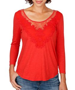 Lucky Brand | Applique Lace Top
