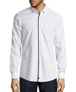 strellson | Slim-Fit Solid Cotton Dress Shirt