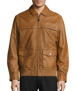 Tommy Bahama | Santiago Aviator Leather Jacket