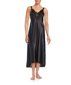 Flora By Flora Nikrooz   Satin Embroide Nightgown