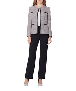 Tahari Arthur S. Levine | Tweed Pants Suit Set