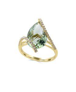 Effy | Diamond Amethyst And 14k Ring0.19 Tcw