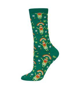 Hot Sox | Leprechaun Printed Socks