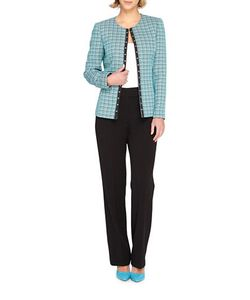 Tahari Arthur S. Levine | Tweed Open Jacket And Pants Suit