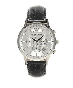 Emporio Armani | Slim Stainless Steel Chronograph Watch