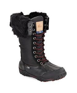 Pajar | Faux Fur-Cuff Waterproof Leather Boots