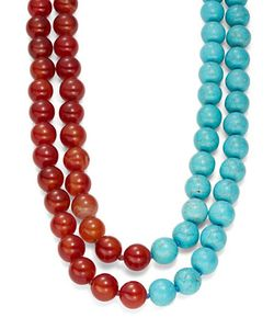 Kenneth Jay Lane | Two-Tone Beaded Laye Necklace