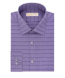 Michael Michael Kors | Slim-Fit Glen Plaid Dress Shirt