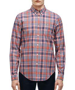 Lacoste | Slim-Fit Poplin Woven Plaid Shirt