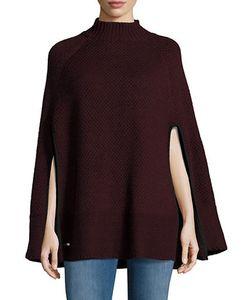 Lauren Ralph Lauren | Mock-Turtleneck Wool-Blend Cable-Knit Cape