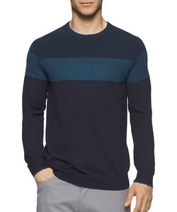 Calvin Klein | Colorblock Merino Wool Blend Sweater