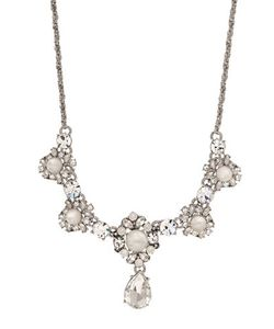 Marchesa | 16-Inch Rhodiumplated Frontal Pendant Necklace