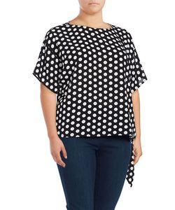 Michael Michael Kors | Plus Dotted Tie-Accented Top