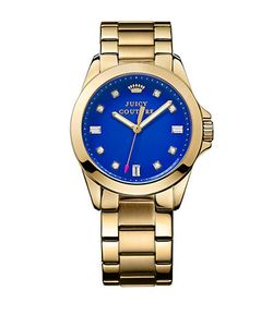 Juicy Couture | Ladies Tone And Crystal Stella Watch