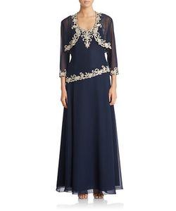 J Kara | Embellished Jacket And Popover Dress