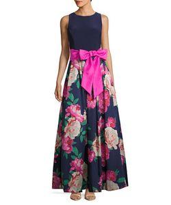 Eliza J | Jewelneckprint Sleeveless Gown