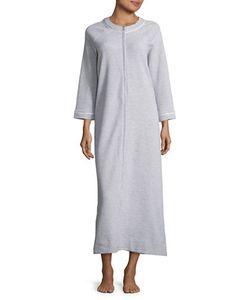 Carole Hochman | Waffle-Knit Zip-Front Mumu Duster Robe