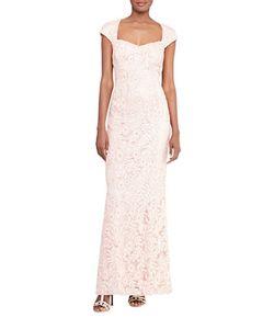 Lauren Ralph Lauren | Sequined Cutout-Back Gown