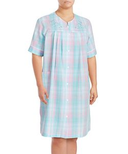 Miss Elaine | Plus Seersucker Mumu Duster Robe