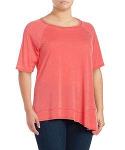 Calvin Klein Performance Plus | Asymmetrical Jersey Knit Performance T-Shirt