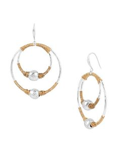 Robert Lee Morris Soho | Bold Moves Two-Tone Wire-Wrapped Orbital Drop Earrings