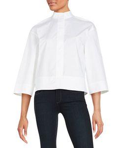 Dkny Pure | Cotton-Blend Button-Front Shirt