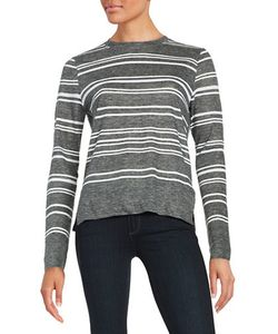 Dkny Pure | Striped Linen-Blend Top