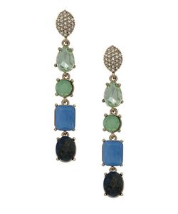 Jenny Packham | Linear Stone Drop Earrings
