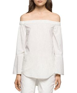 Calvin Klein Jeans | Striped Off-The-Shoulder Top