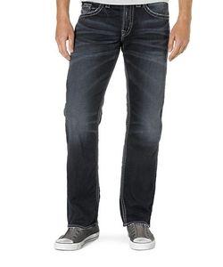 Silver Jeans | Zac Dark Wash Straight Leg Jeans