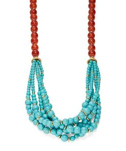 Kenneth Jay Lane | Two-Tone Multi-Row Laye Beaded Necklace