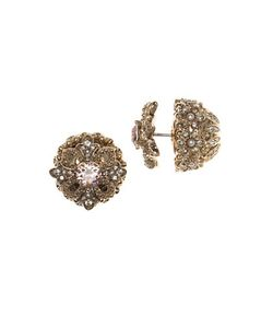 Marchesa | Front Back Button Earrings