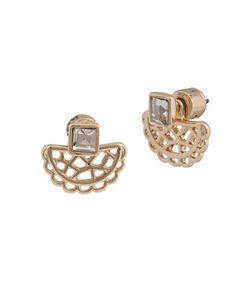 Kensie | Scalloped Crystal-Accented Stud Earrings