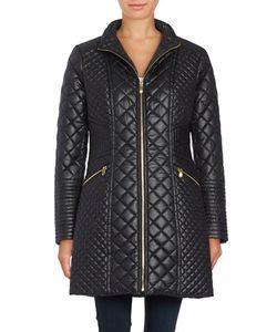 Via Spiga | Quilted Zip-Front Coat